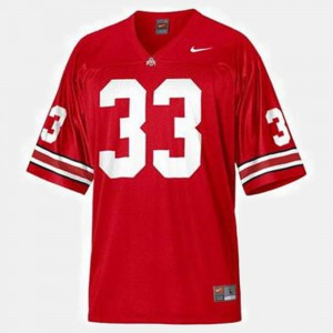 For Men Red #33 College Football Pete Johnson OSU Jersey 231059-134