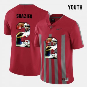 #2 For Kids Pictorial Fashion Red Ryan Shazier OSU Jersey 575549-781