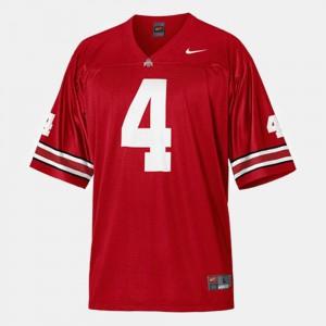 Men Red College Football Santonio Holmes OSU Jersey #4 431101-999