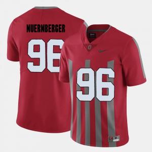 Sean Nuernberger OSU Jersey #96 Mens College Football Red 937653-603