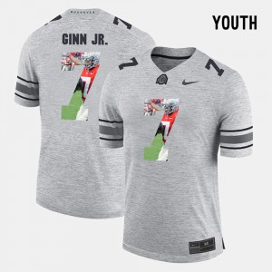 #7 Gray Youth Pictorital Gridiron Fashion Ted Ginn Jr. OSU Jersey Pictorial Gridiron Fashion 847173-774