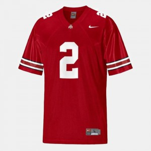 Terrelle Pryor OSU Jersey #2 Red For Men's College Football 165780-216