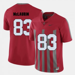 #83 For Men's Red College Football Terry McLaurin OSU Jersey 811852-324