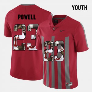 Red Tyvis Powell OSU Jersey #23 Pictorial Fashion For Kids 721713-488