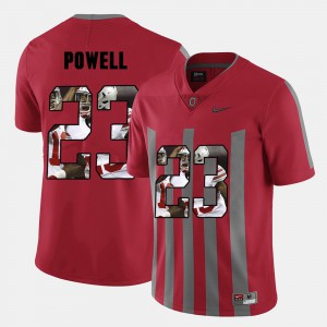 Tyvis Powell OSU Jersey #23 For Men Pictorial Fashion Red 803914-396