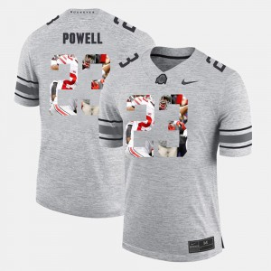 Pictorital Gridiron Fashion Pictorial Gridiron Fashion Tyvis Powell OSU Jersey Gray #23 Men's 910238-256