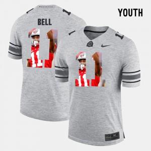 Vonn Bell OSU Jersey Pictorital Gridiron Fashion #11 Pictorial Gridiron Fashion Gray For Kids 228184-539