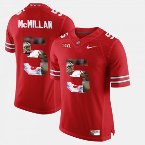 Raekwon McMillan OSU Jersey Scarlet #5 Men Pictorial Fashion 154780-723
