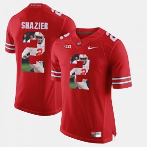#2 Pictorial Fashion Scarlet Ryan Shazier OSU Jersey Mens 227121-556