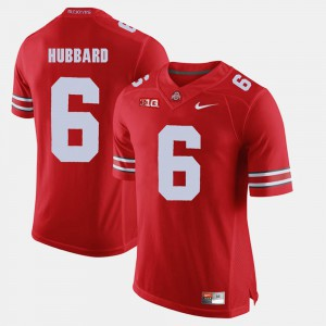 Mens Scarlet #6 Alumni Football Game Sam Hubbard OSU Jersey 190065-964