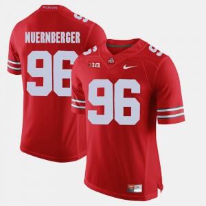 Alumni Football Game Mens Sean Nuernberger OSU Jersey Scarlet #96 799108-467