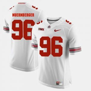 Sean Nuernberger OSU Jersey White #96 Mens Alumni Football Game 735427-875