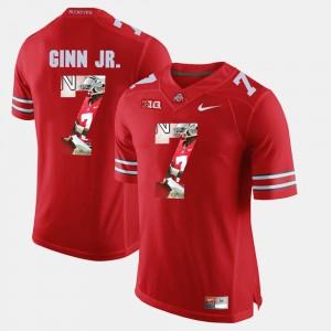 Ted Ginn Jr. OSU Jersey Pictorial Fashion Scarlet #7 For Men 987941-520