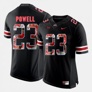 Black #23 Tyvis Powell OSU Jersey For Men's Pictorial Fashion 910181-321