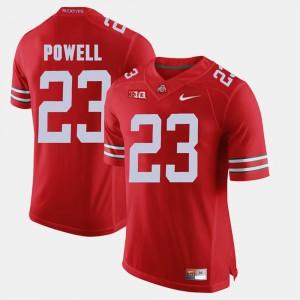 Tyvis Powell OSU Jersey Alumni Football Game Scarlet #23 For Men 339624-477