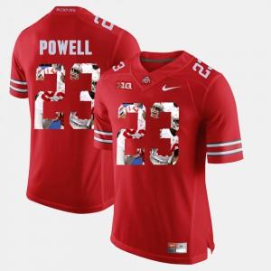 #23 Men Scarlet Pictorial Fashion Tyvis Powell OSU Jersey 623097-370