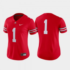 #1 For Women OSU Jersey College Football Game Scarlet 411189-870