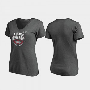 2019 Fiesta Bowl Bound Scrimmage V-Neck Ladies Heather Gray OSU T-Shirt 584240-644
