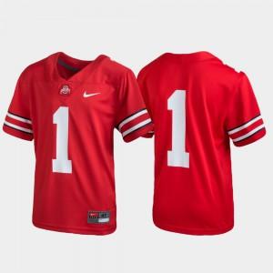 Youth(Kids) Scarlet OSU Jersey #1 Untouchable Football 341595-751
