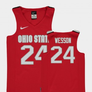Andre Wesson OSU Jersey Youth Red Replica #24 College Basketball 400003-639