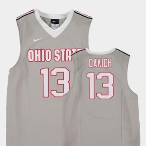 Replica Andrew Dakich OSU Jersey Gray Kids #13 College Basketball 878298-319