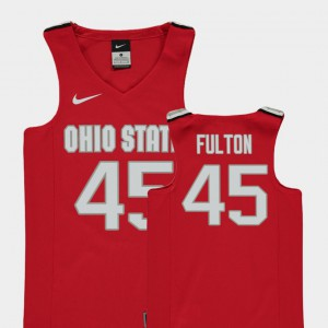 Red Youth(Kids) #45 Replica Connor Fulton OSU Jersey College Basketball 905288-697