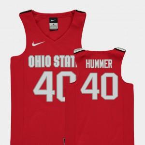 Red #40 Daniel Hummer OSU Jersey Youth Replica College Basketball 849350-792