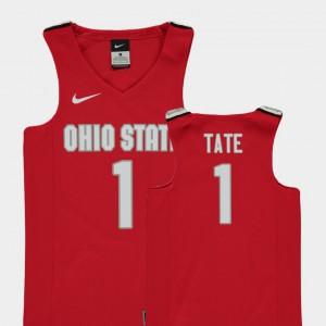 Red Youth(Kids) Replica College Basketball Jae'Sean Tate OSU Jersey #1 229171-700