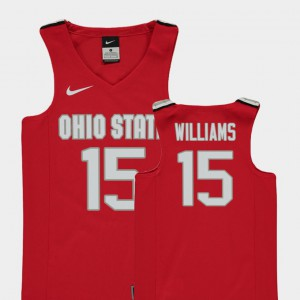 #15 Kam Williams OSU Jersey Replica Red Youth College Basketball 272213-317