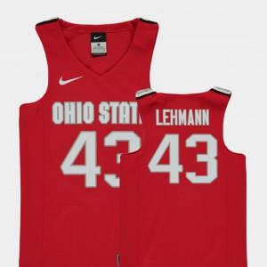 Youth Replica College Basketball Matt Lehmann OSU Jersey Red #43 170654-787