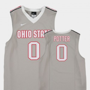 Gray Replica Youth(Kids) #0 Micah Potter OSU Jersey College Basketball 237671-119