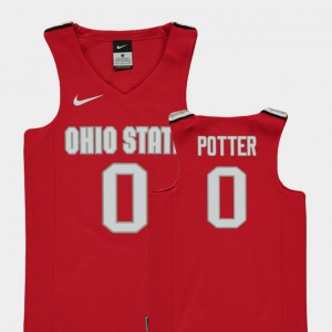 Red #0 College Basketball Replica Micah Potter OSU Jersey For Kids 948457-866