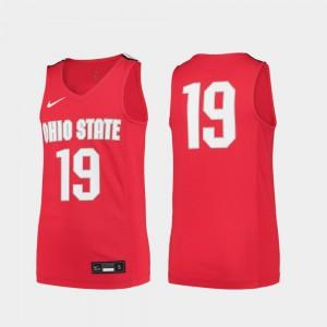 OSU Jersey Replica Scarlet College Basketball Youth(Kids) #19 296590-736